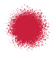red grunge blot vector image vector image
