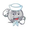 sailor football character cartoon style vector image vector image