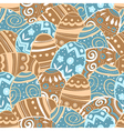 seamless easter eggs pattern vector image vector image