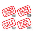 set new year christmas black friday vector image vector image