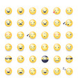smileys icon set emoticons pictograms vector image vector image