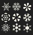 snowflakes set - christmas design elemen vector image