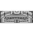 tribal tattoo sleeve ornament vector image vector image