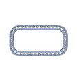 truss frame in form rectangle isolated on vector image vector image