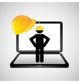under construction web page worker vector image vector image