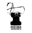vintage camera made in hand drawn style template vector image
