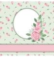 Vintage floral cardinvitationWatercolor rose vector image vector image
