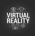 Virtual reality letters on black