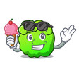 with ice cream shrub character cartoon style vector image vector image