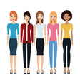 women group community together vector image vector image