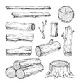 wood burning materials sketch vector image vector image
