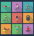 young people doing workout with vector image vector image