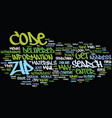 zip code search text background word cloud concept vector image vector image
