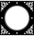 folk floral frame vector image