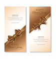 banners template set for thanksgiving day vector image