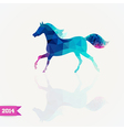 triangle horse Abstract horse of geometric shapes vector image