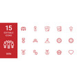 15 win icons vector image vector image