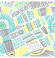 Abstract marker lines seamless pattern