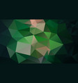 abstract polygonal background dark emerald green vector image vector image