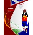al 0714 basketball 03 vector image vector image