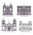 architecture malta in thin line cathedral vector image vector image