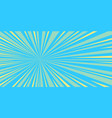 blue rays pop art background vector image