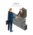boss bribery concept background isometric style vector image