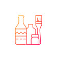 bottle painting gradient linear icon vector image