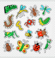 Bugs and insects stickers badges and patches
