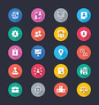 business simple color icons vector image vector image