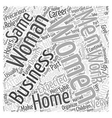 business woman Word Cloud Concept vector image vector image