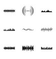 buzz icons set simple style vector image