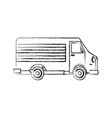 car van commercial vehicle delivery service vector image