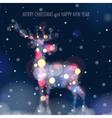 Christmas Deer Silhouette vector image