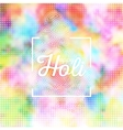 Colorful background for Holi celebration vector image