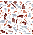 construction icons seamless color pattern eps10 vector image vector image