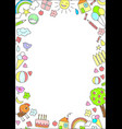 doodle children drawings concept vector image