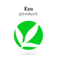 eco product logo with shadow vector image vector image