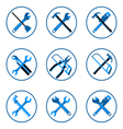 equipment icons set vector image vector image