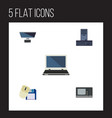 flat icon computer set of computer mouse vintage vector image vector image