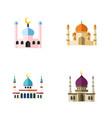 flat icon mosque set of islam religion muslim vector image vector image