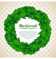 floral wreath green leaves vector image vector image