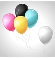 flying balloons background vector image vector image