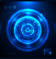 futuristic hud interface screen design vector image
