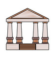 greek building design vector image vector image