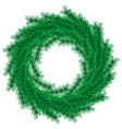 green christmas wreath isolated on backgrou vector image