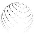 halftone globe desing icon logo vector image vector image