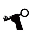 hand holds the key vector image vector image