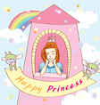 Happy Princess Tower vector image