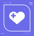 heart with medical cross graphic elements for vector image